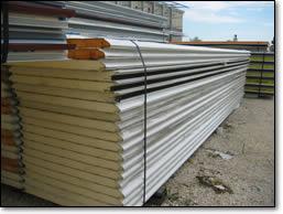 pannelli metallici isolanti coibentati in acciaio zincato