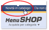 Menu Novita in catalogo