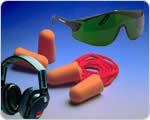 Occhiali, cuffie e auricolari di protezione
