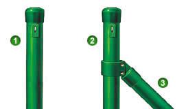 Come montare la recinzione pali e saette utilizzabili per for Pali cemento per recinzione