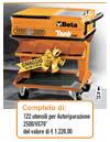 Carrello portautensili completo 122 utensili autoriparazione Beta 2500 VG70