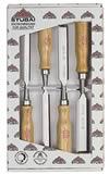 Set 4 scalpelli legno Stubai 3511 04