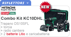 Combo Kit KC10DHL Hitachi con trapano DS10SFL