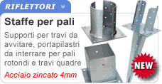 Supporti Per Pali In Legno Tondi.Nuove Staffe Metalliche Per Gazebo In Legno