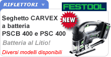 Seghetto alternativo CARVEX 400 Festool