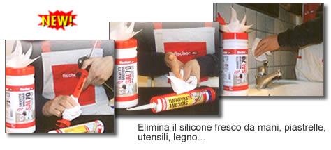Ferramentaonline shop salviette detergenti sal70 fischer - Togliere silicone dalle piastrelle ...
