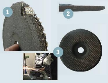 Utilizzi sbagliati di una mola abrasiva