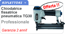 Fissatrice chiodatrice pneumatica professionale TG30