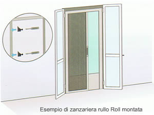 Ferramentaonline shop kit zanzariera rullo per porta finestra for Zanzariera porta finestra