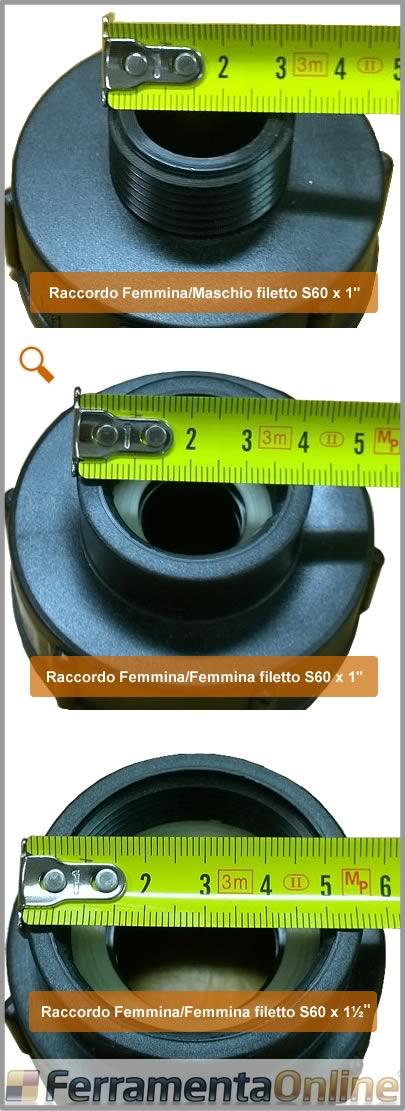 nero SENRISE Adattatore per tubo del serbatoio 1 pezzo 1000 L plastica IBC adattatore tubo da giardino attrezzi di montaggio 60 mm filettatura importata a 12 mm