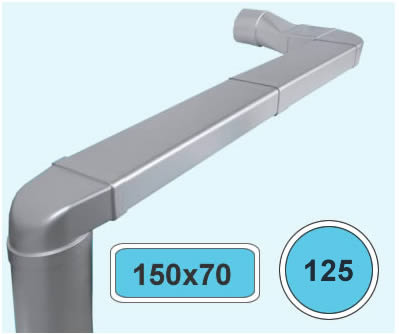 FerramentaOnline SHOP: Curva verticale adattatore per impianto aerazione