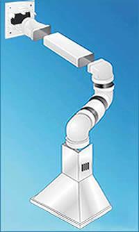 Ferramentaonline shop tubo per aerazione rettangolare in pvc tubi per condotti aerazione - Aspiratori per cappe da cucina ...