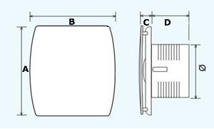 aspiratore elettrico per bagno