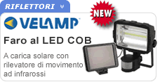 Faro LED COB con rilevatore movimento